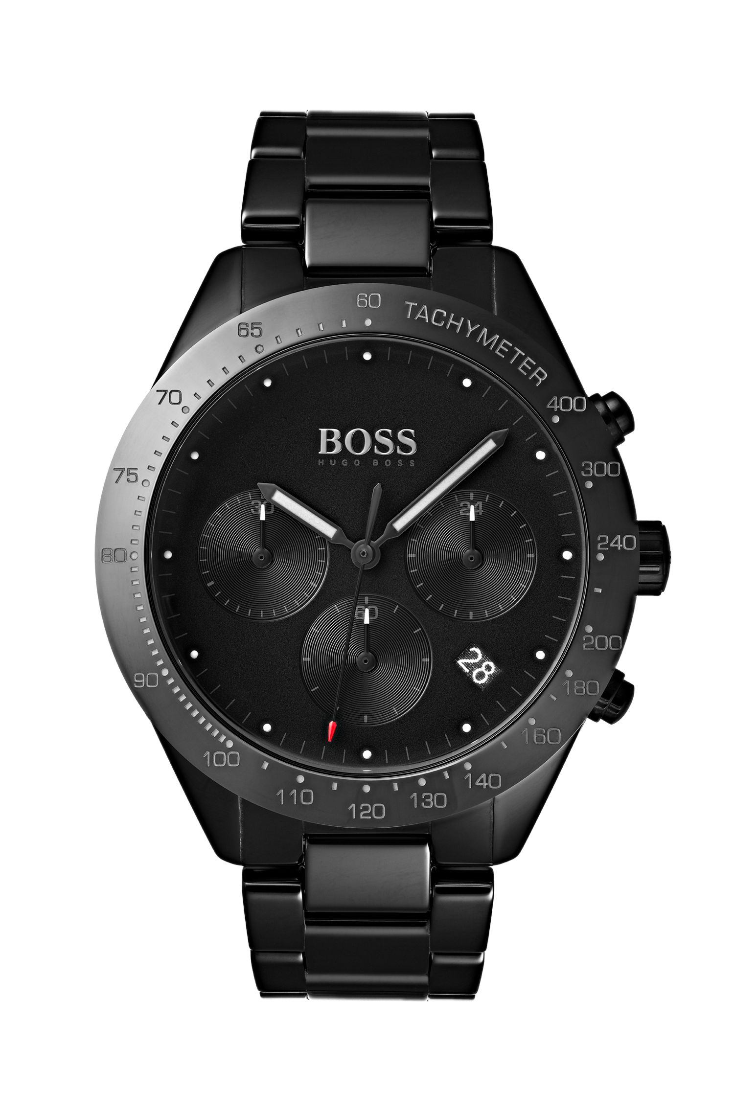 Chronograph watch in black ceramic