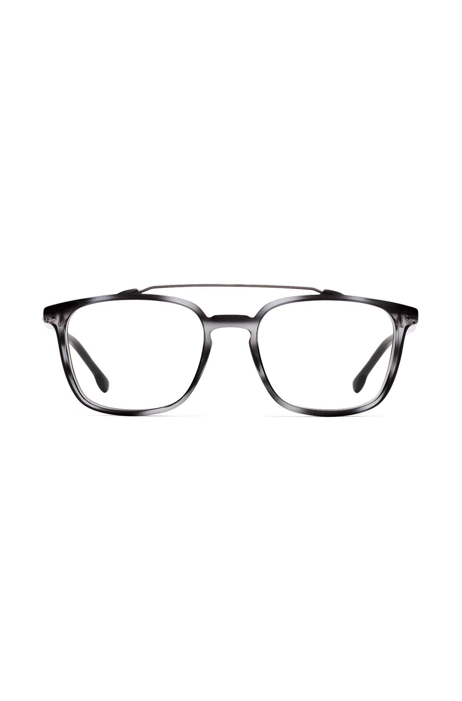 Optyl glasses with double bridge, Patterned