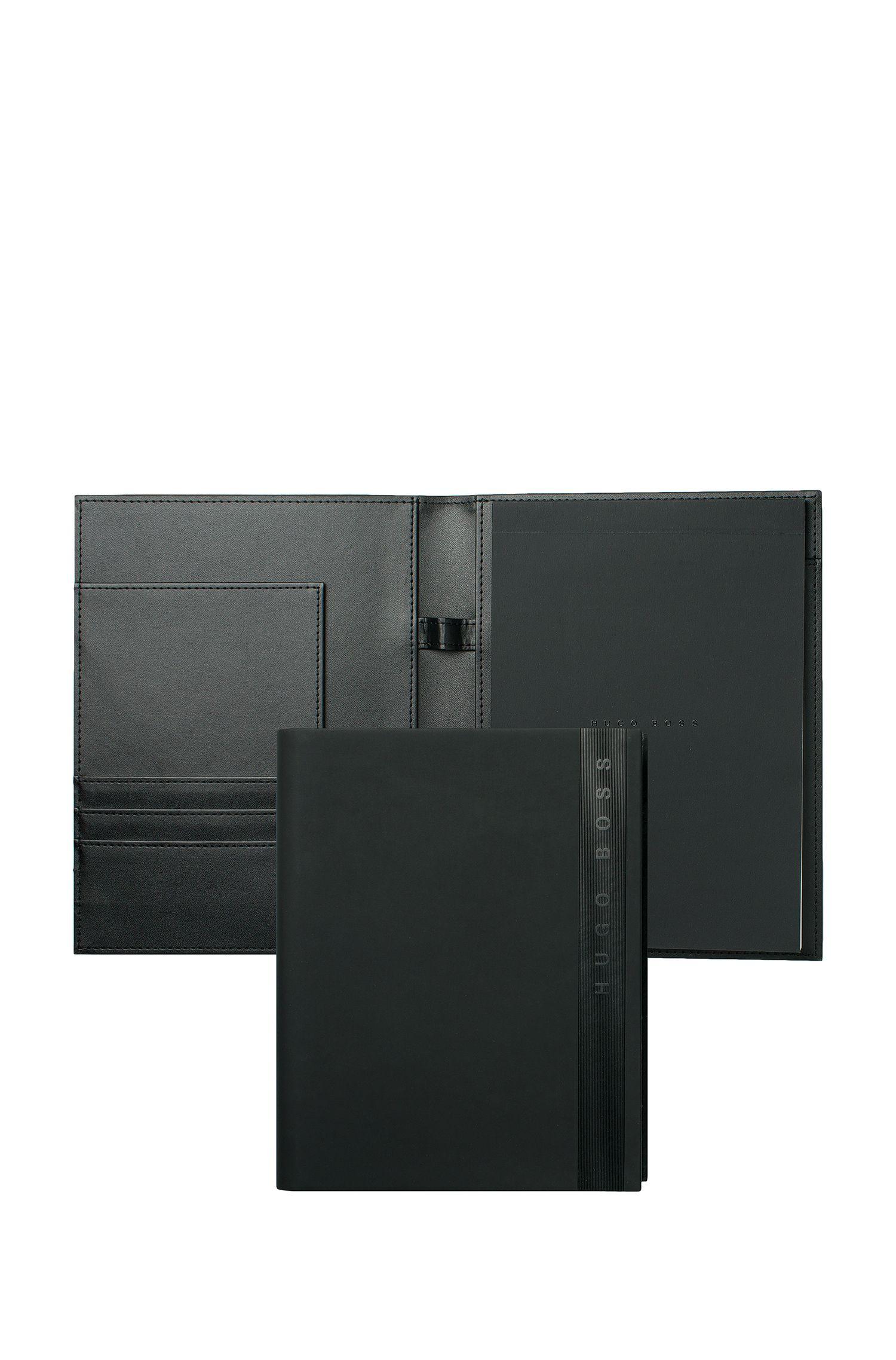 Porte-documentsA5 en similicuir noir, Noir