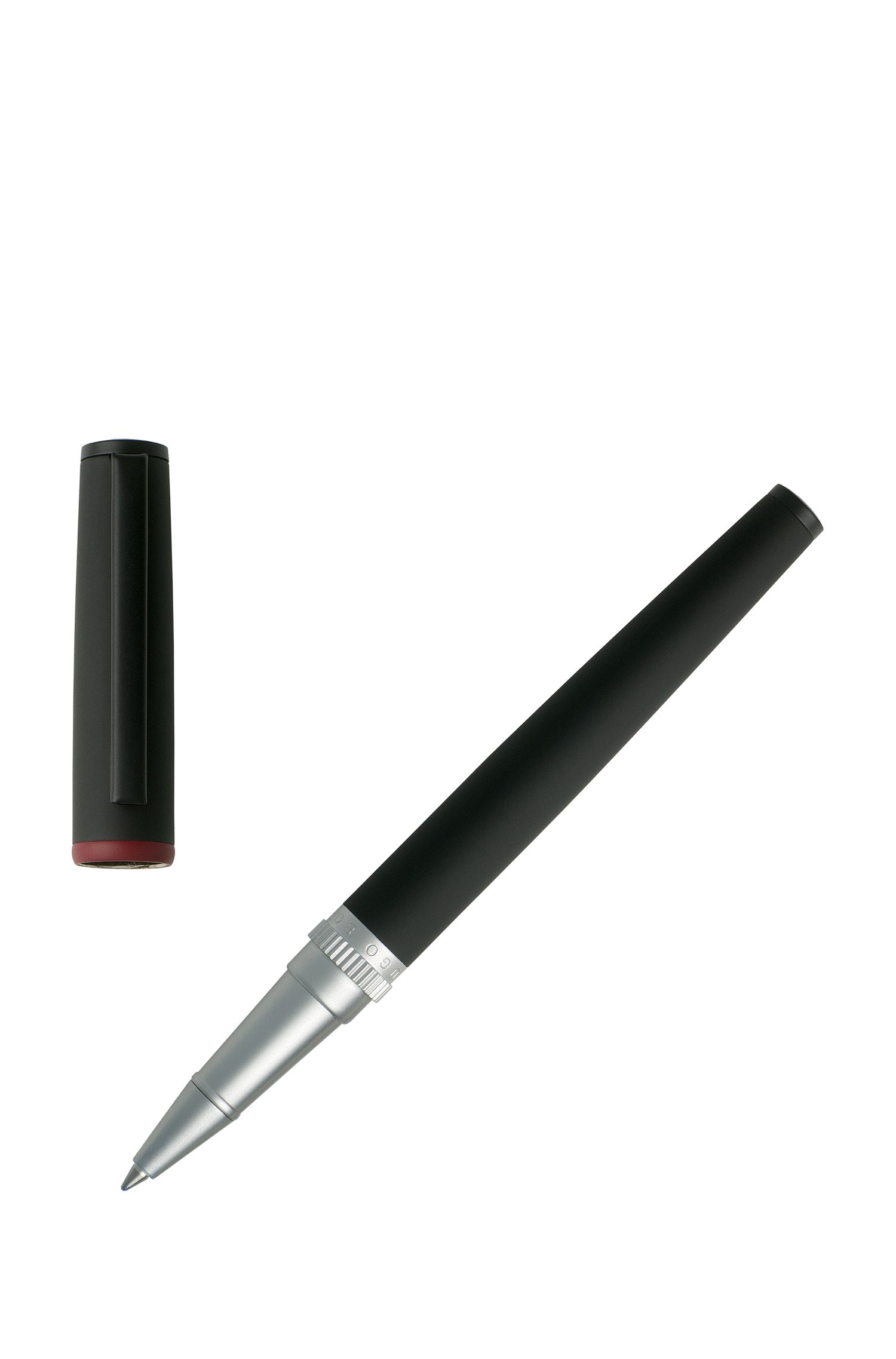 Rollerball pen in matt black lacquer, Black