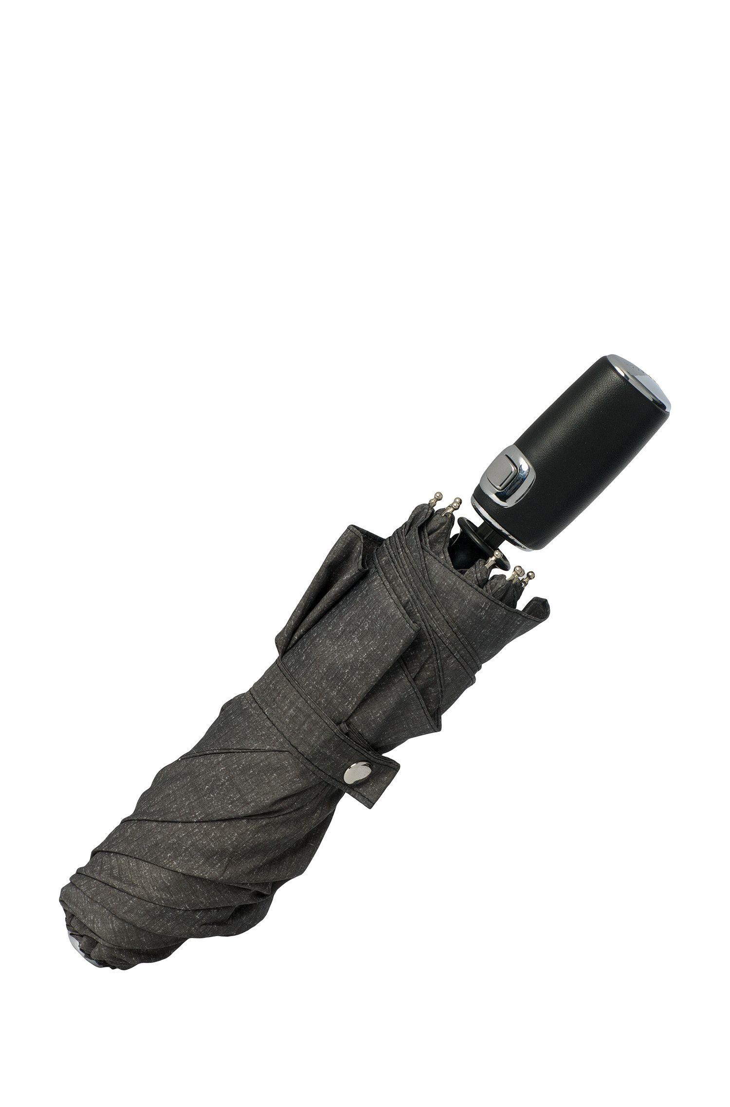 Grau melierter Schirm mit automatischem Öffnungsmechanismus