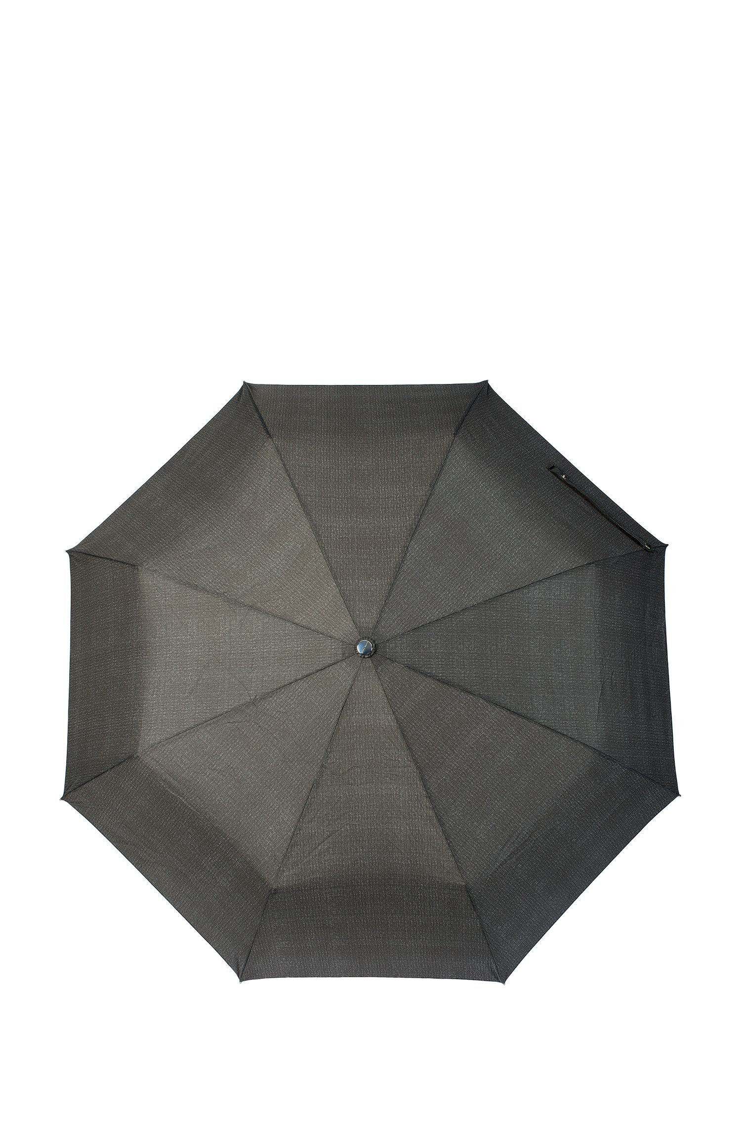 Grijze, gemêleerde paraplu met automatisch openingsmechanisme, Donkergrijs