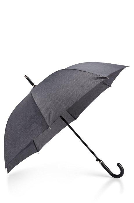 5ae29aa2a8 BOSS - Parapluie à motifs gris avec poignée crochet en similicuir
