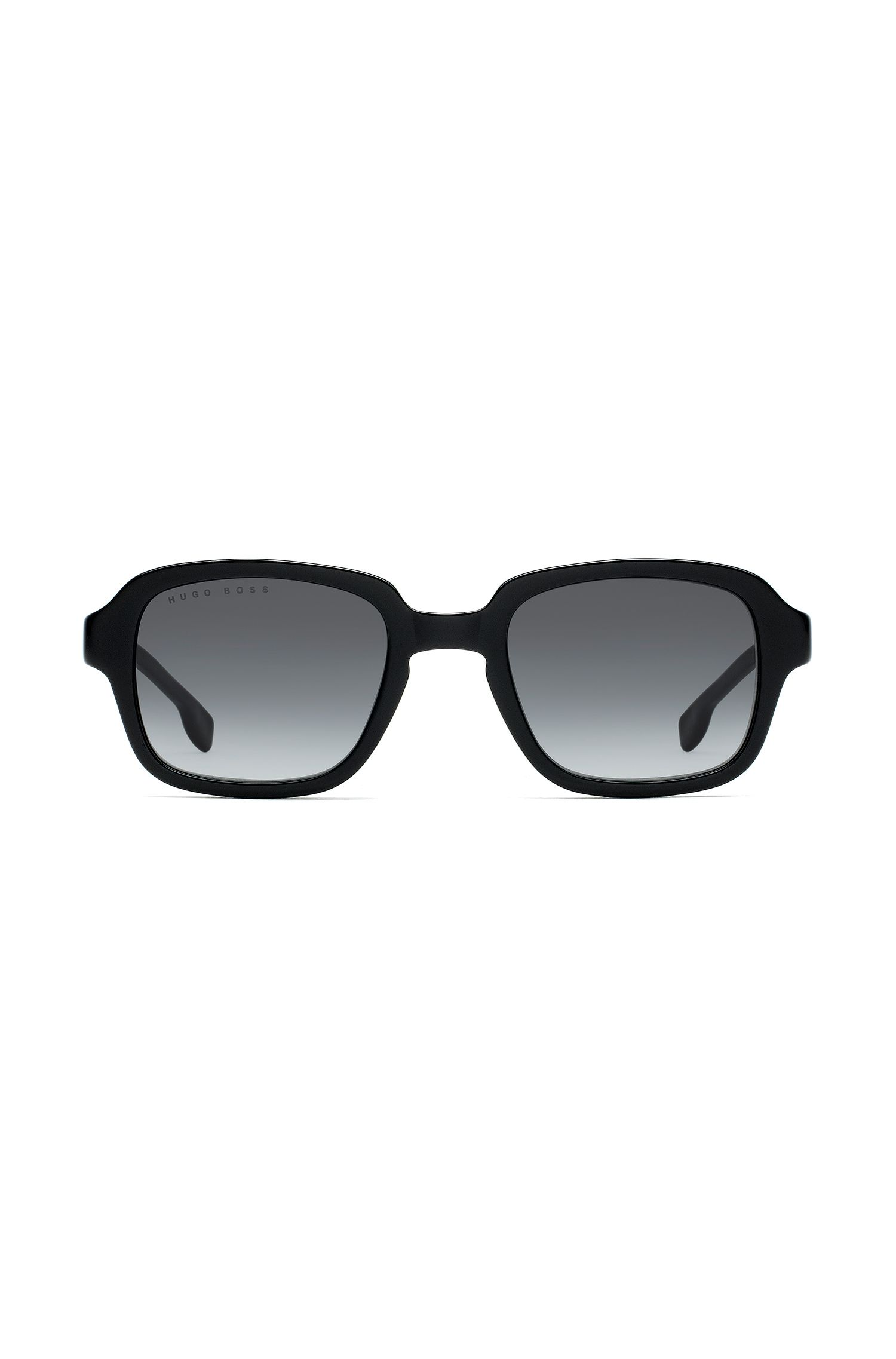 Square sunglasses in black acetate, Schwarz