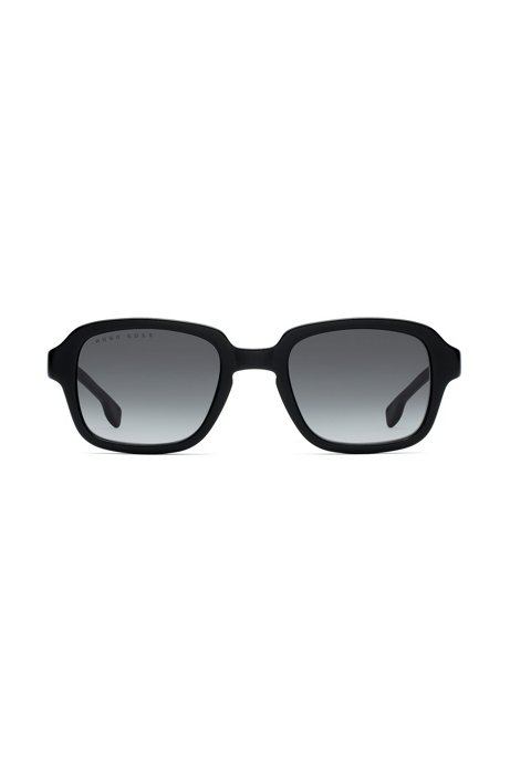 Square sunglasses in black acetate, Schwarz