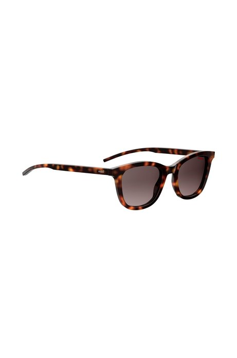 Havana sunglasses with acetate frames and temples, Patterned