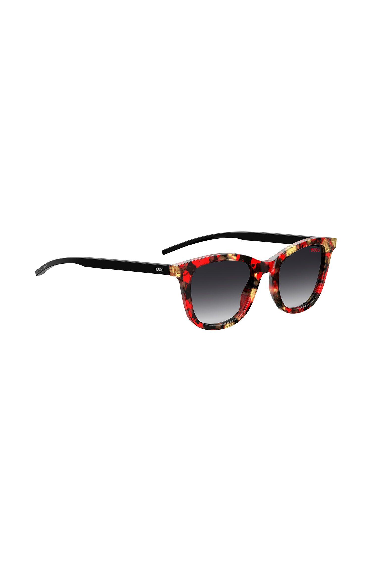 Acetaat zonnebril met kleurrijk Havana-frame, Bedrukt