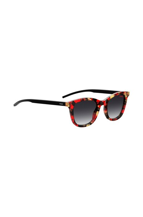 Acetate sunglasses with colourful Havana frames, Patterned