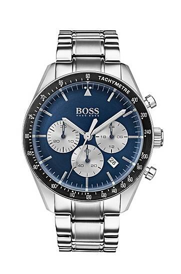 boss  Montre chronographe, avec un cadran bleu et un bracelet en acier... par LeGuide.com Publicité