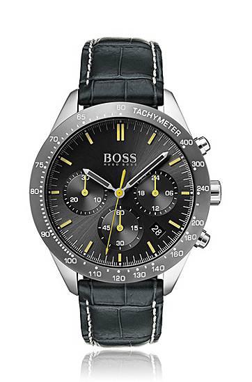 boss  Montre chronographe à bracelet en cuir embossé surpiqué à la main... par LeGuide.com Publicité