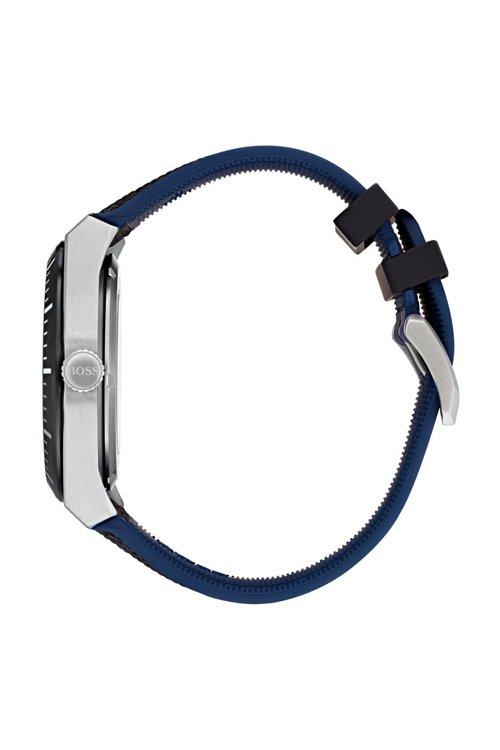 Hugo Boss - Multi-automatic skeleton watch with black-fabric strap - 2