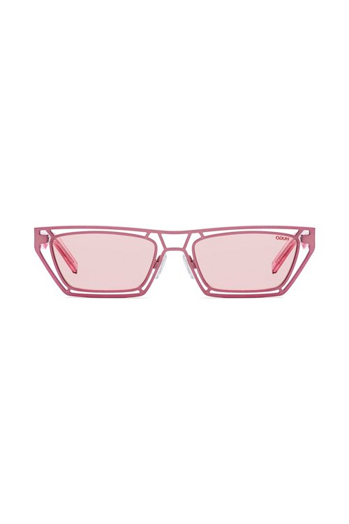 Hugo Boss - Gafas de sol geométricas de color rosa con varillas de acetato transparente - 1