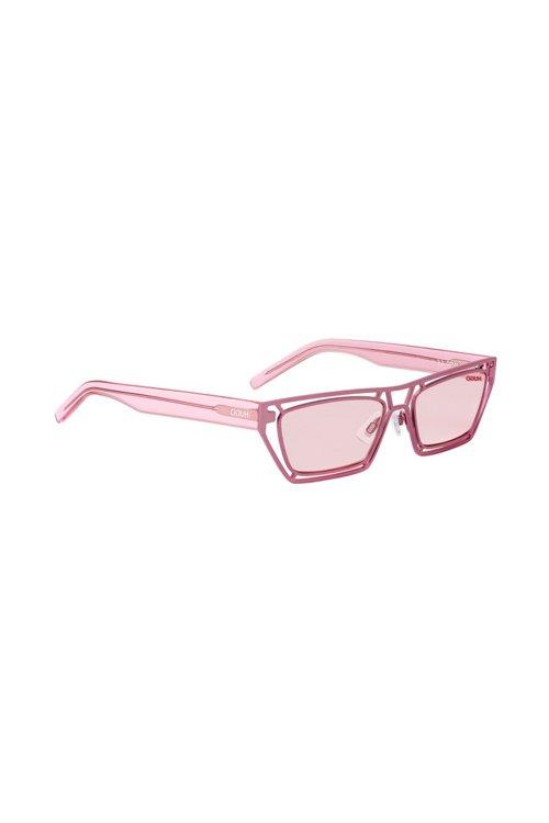 Hugo Boss - Gafas de sol geométricas de color rosa con varillas de acetato transparente - 2