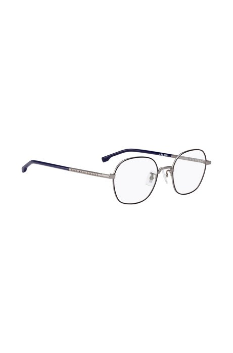 Lightweight optical glasses with tubular beta-titanium temples, Silver