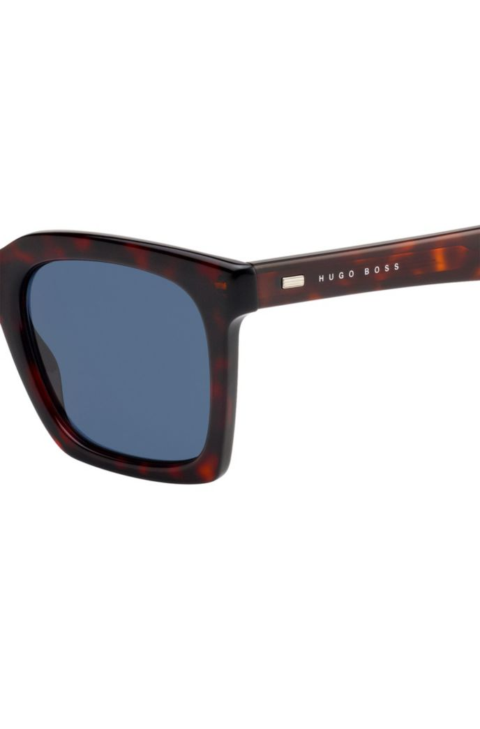 Retro-inspired sunglasses in acetate with Havana frames