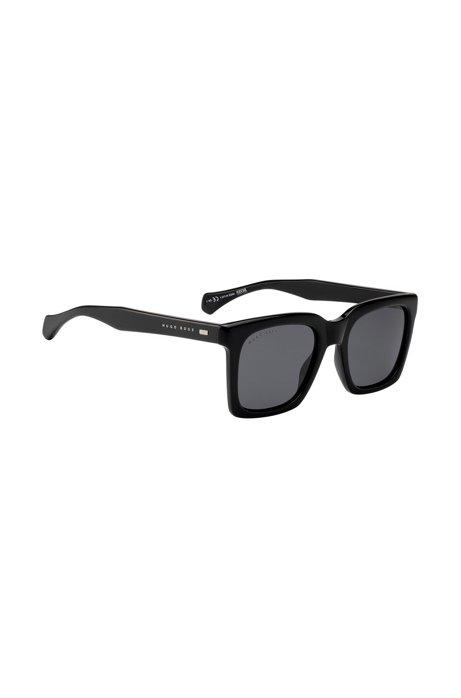 Black-acetate sunglasses with retro-inspired frames, Black