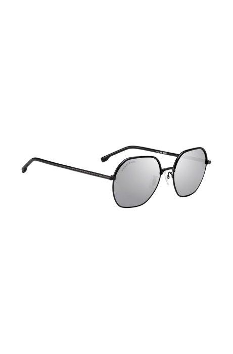 Sonnenbrille aus leichtem Titan mit verspiegelten Gläsern, Silber
