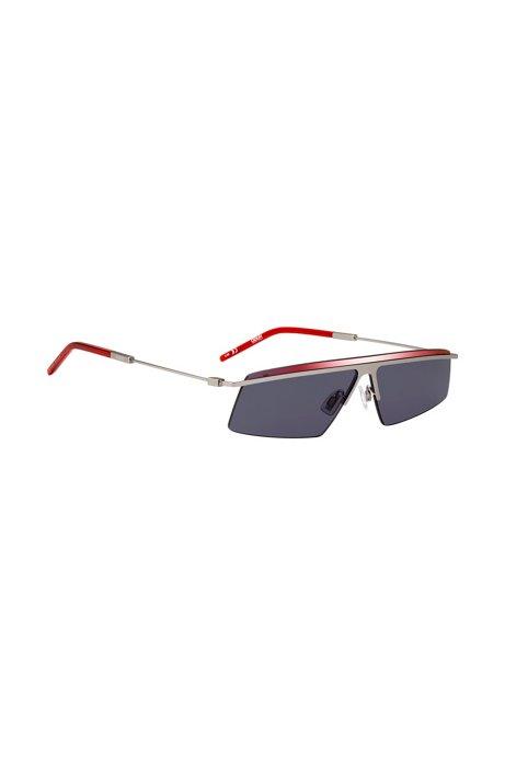 Markante Sonnenbrille mit dünnen Bügeln, Assorted-Pre-Pack