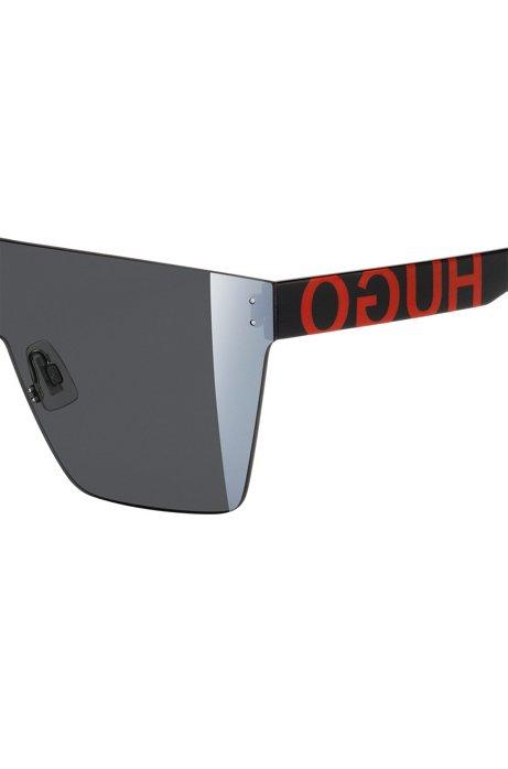HUGO Visor Sonnenbrille mit Statement Logos