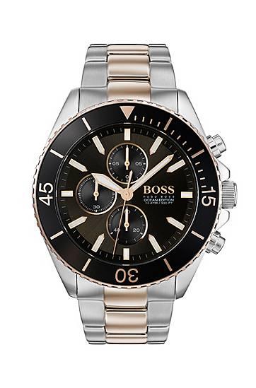 boss  Montre chronographe bicolore à lunette rotative contrastante Mécanisme... par LeGuide.com Publicité