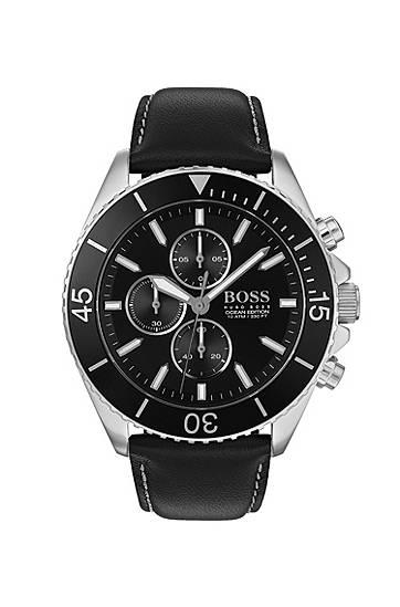 boss  Montre chronographe en acier inoxydable avec lunette rotative noire... par LeGuide.com Publicité