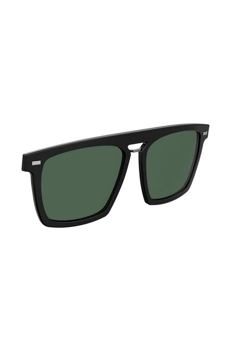 Clip-on sun lenses in black acetate, Black
