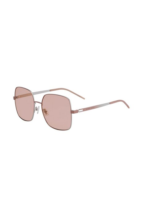 Chromatically shaded sunglasses in steel with green lenses, Assorted-Pre-Pack