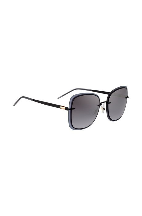 Black sunglasses with transparent edging, Black
