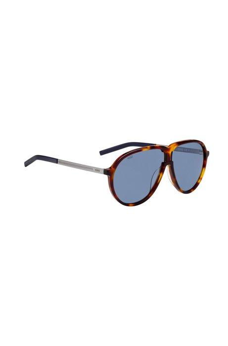 Sonnenbrille im Vintage-Stil mit Havanna-Fassung, Braun