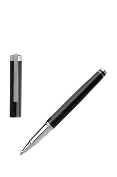 Rollerball pen with glossy black lacquered finish, Black