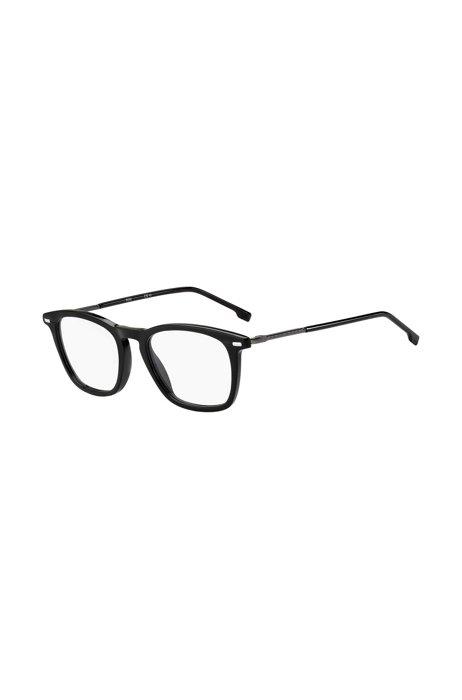 Occhiali da vista in acetato nero con aste tubolari, Assorted-Pre-Pack
