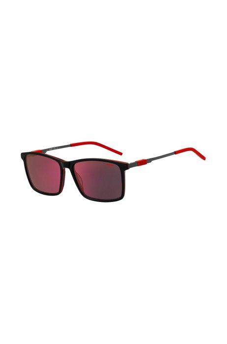 Occhiali da sole ibridi in nero e rosso, Assorted-Pre-Pack