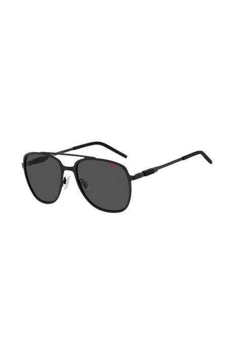 Sonnenbrille aus schwarzem Stahl mit Doppelsteg, Assorted-Pre-Pack