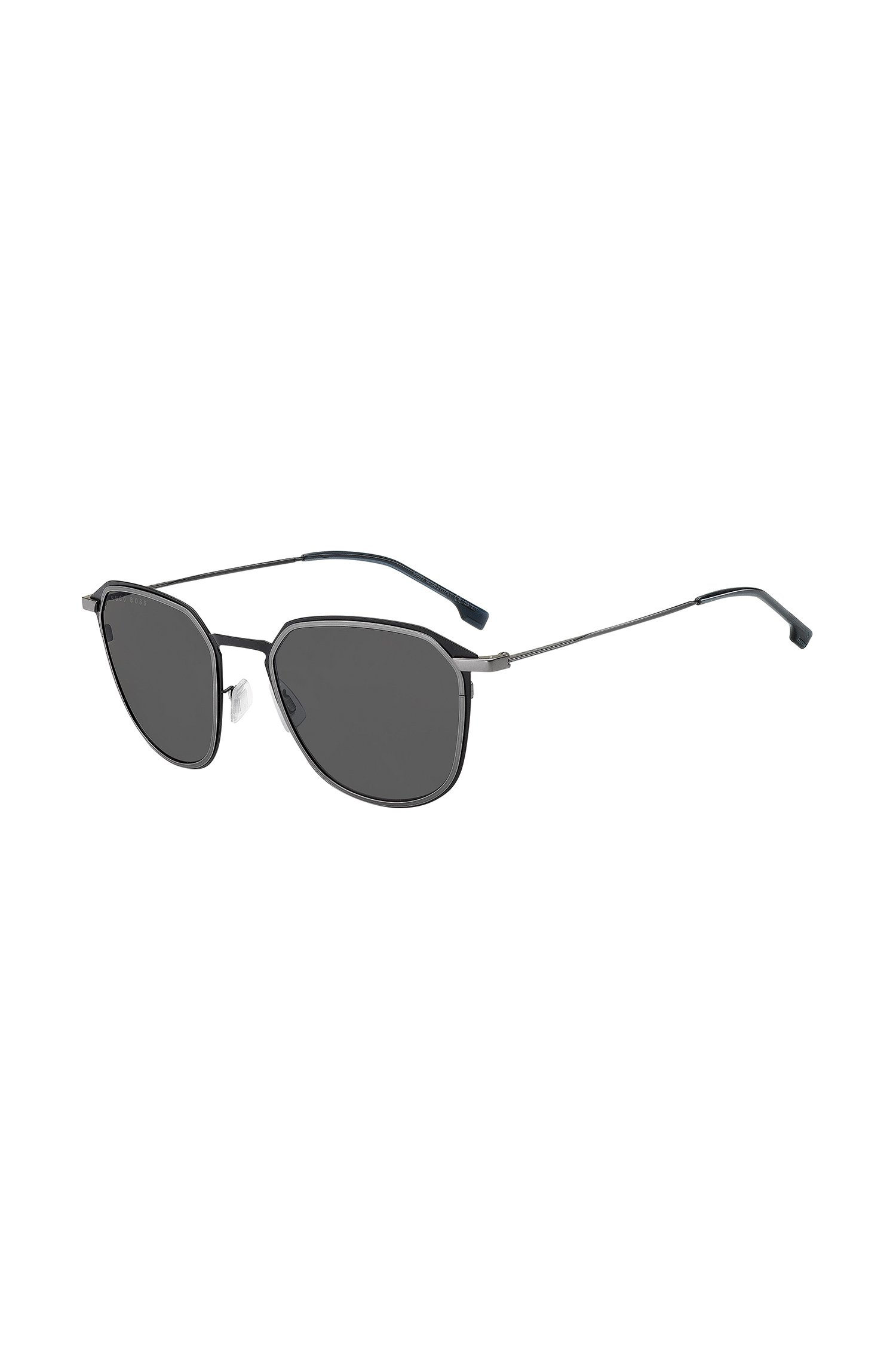 Titanium sunglasses with double-rimmed frames, Assorted-Pre-Pack