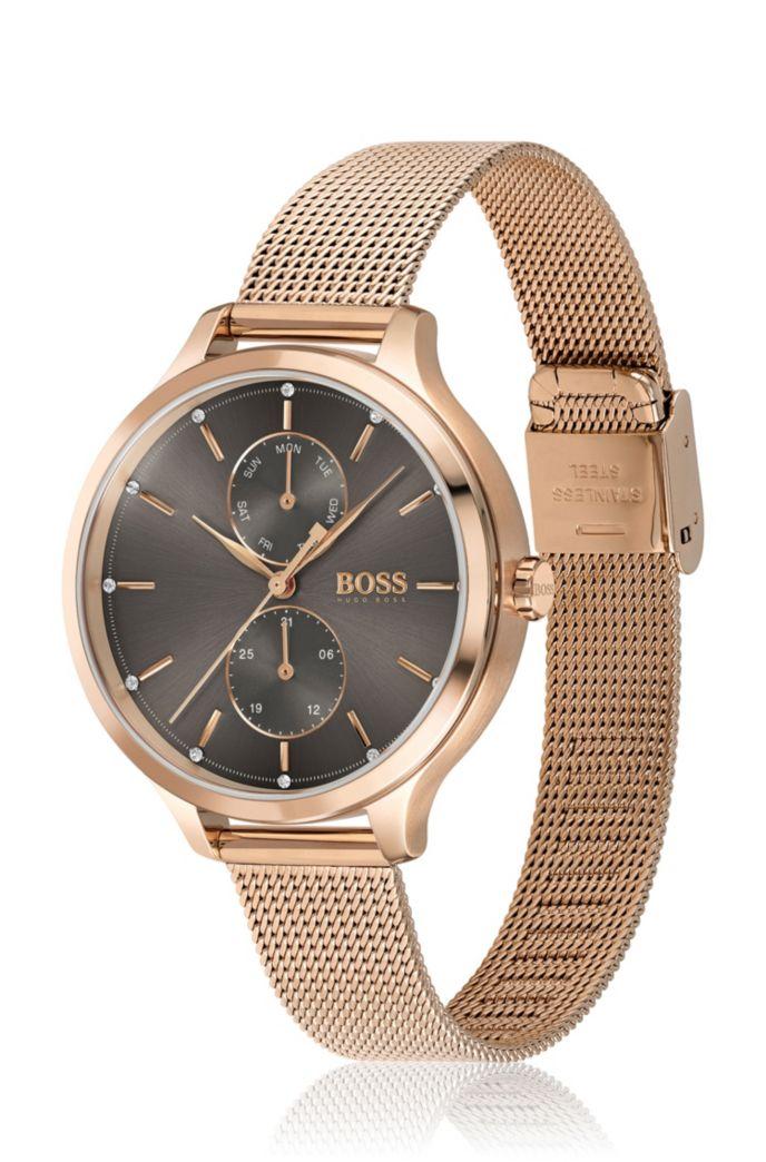 Mesh-bracelet watch with Swarovski® crystals