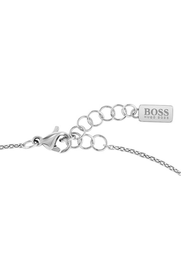Chain bracelet with logo-engraved twisted bar
