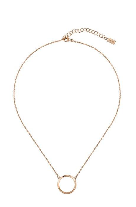 Wende-Halskette mit orangegoldfarbenem Finish und Swarovski®-Kristallen, Gold