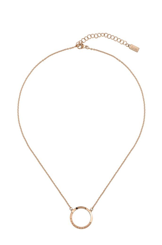 Collana reversibile con finitura oro rosa chiaro e cristalli Swarovski®