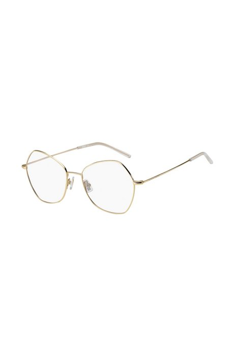 Angled optical frames in gold-effect titanium, Assorted-Pre-Pack