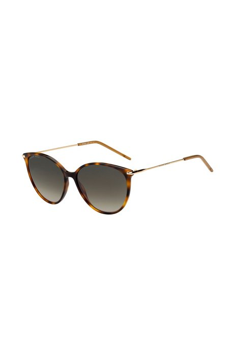 Havana-acetate sunglasses with brown shaded lenses, Assorted-Pre-Pack