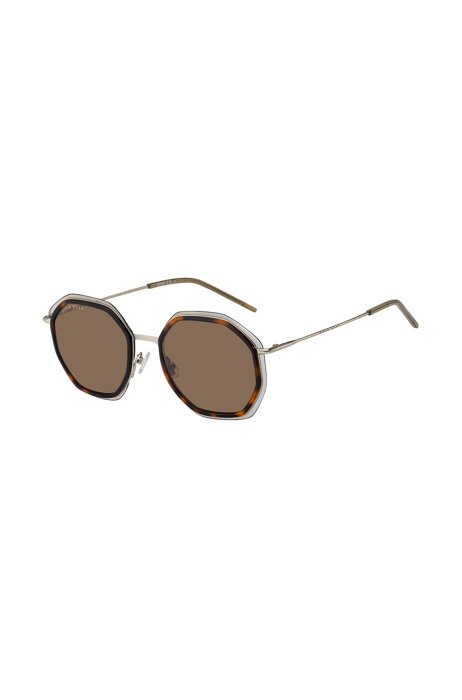 Angular sunglasses in Havana acetate with brown lenses, Assorted-Pre-Pack