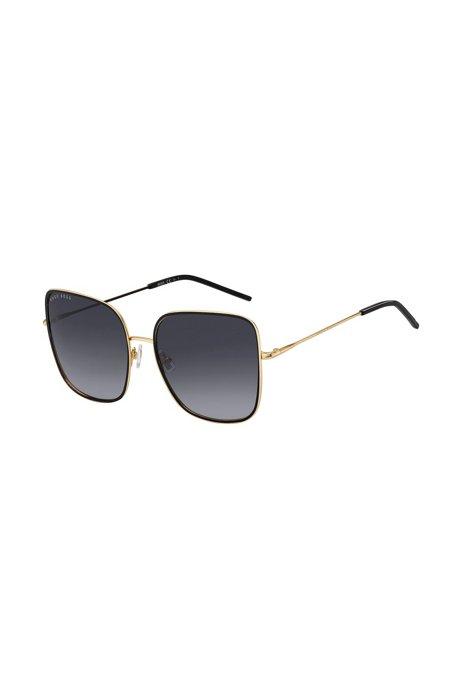 Grijze zonnebril in kleurverloop met zwarte en goudkleurige afwerkingen, Assorted-Pre-Pack