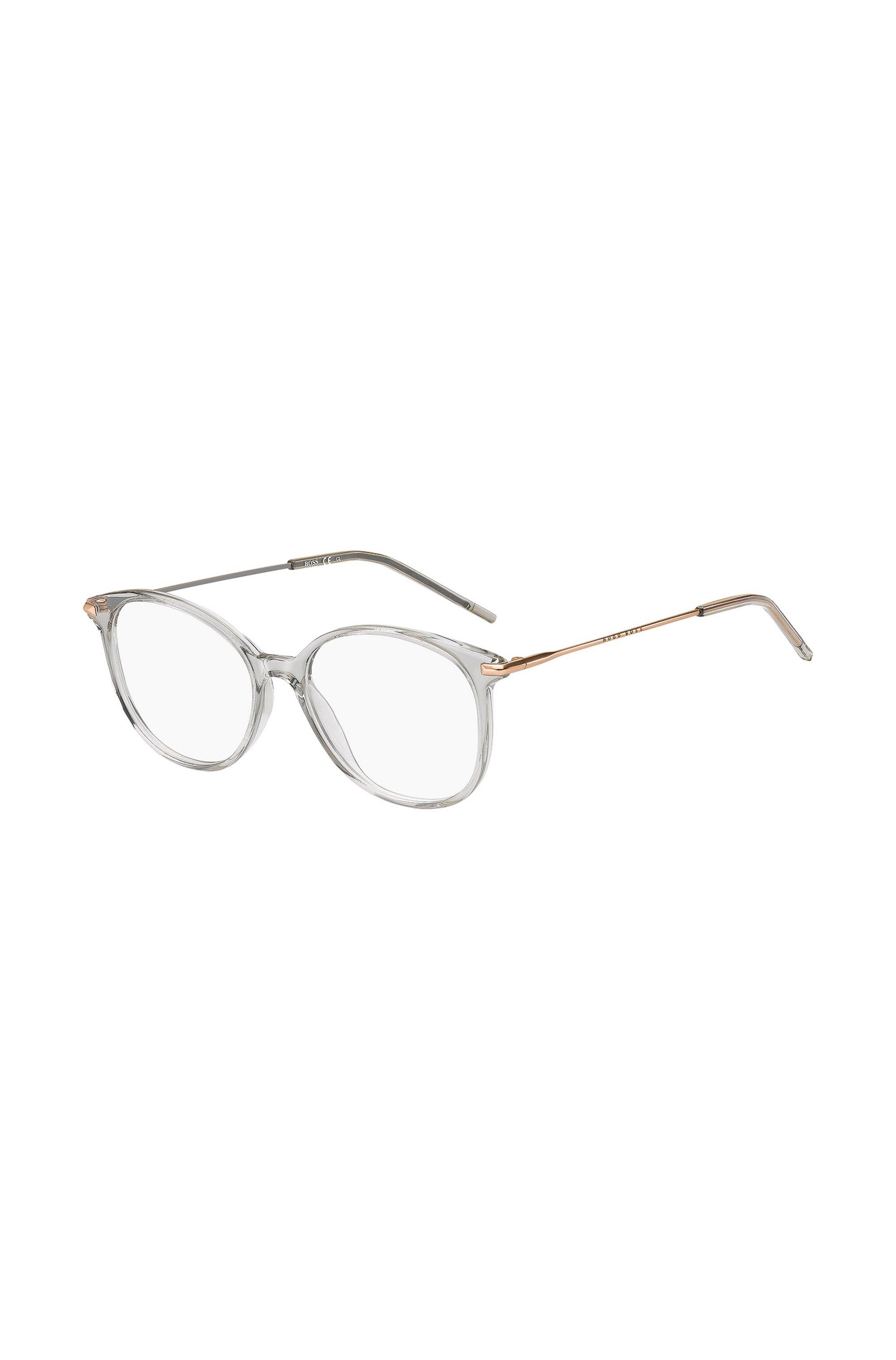 Monture optique en acétate gris avec branches dorées, Assorted-Pre-Pack