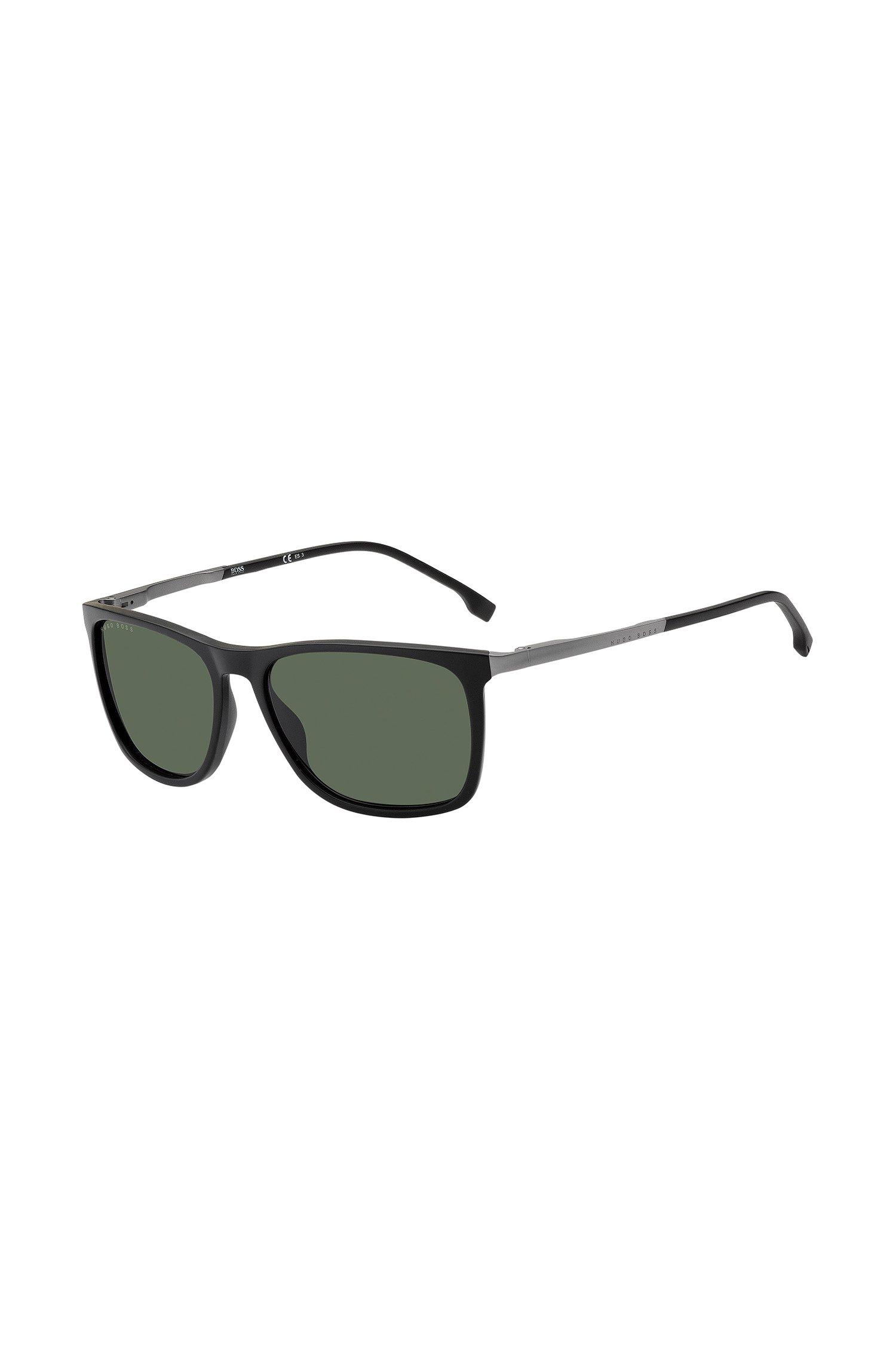 Zonnebril van zwart optyl met gepolariseerde grijze glazen, Assorted-Pre-Pack