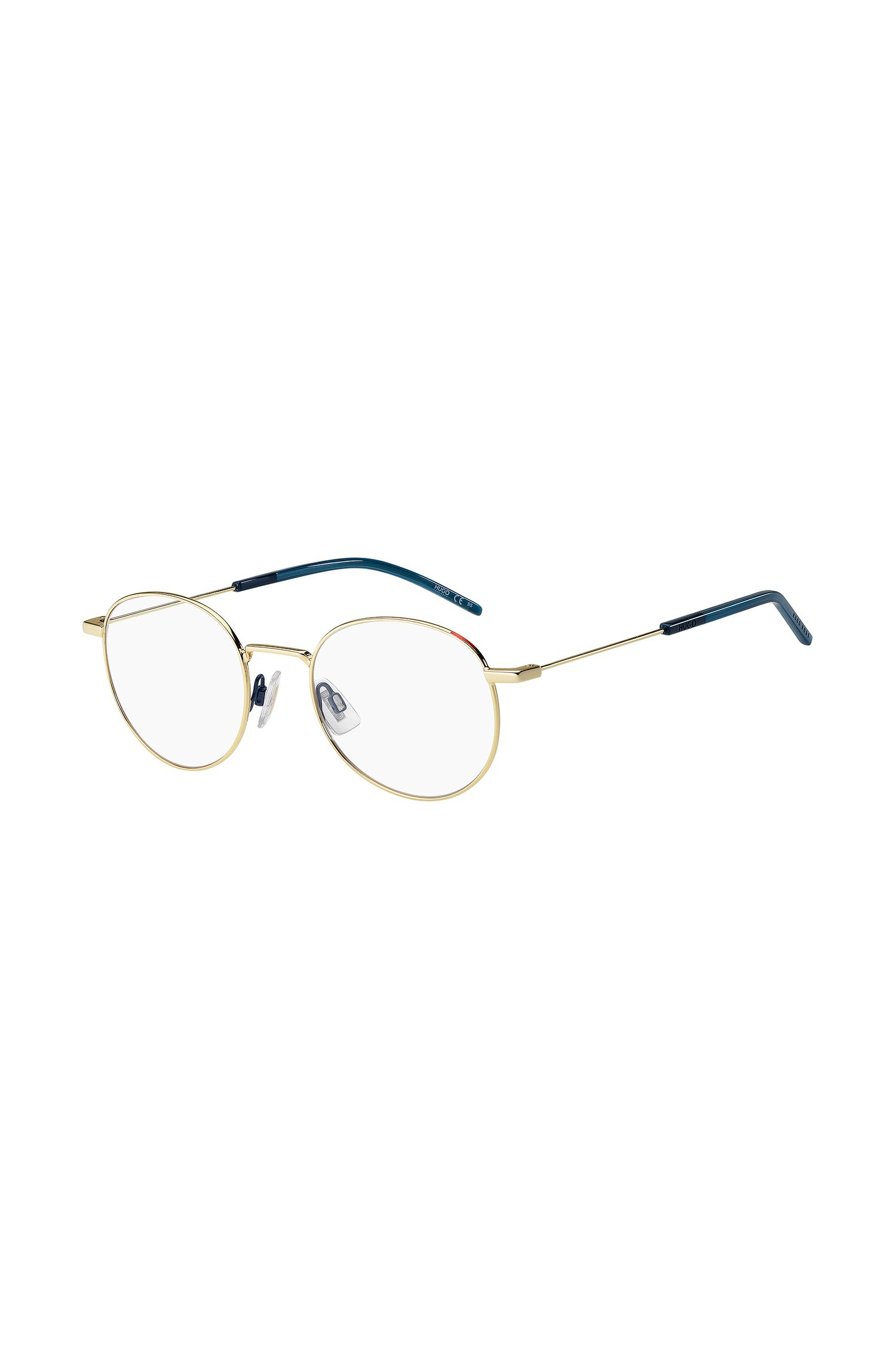 Optical frames with gold and blue finishes, Assorted-Pre-Pack