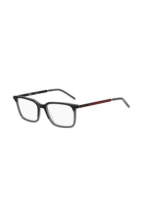 Rechteckige Brillenfassung aus Acetat in Schwarz und Grau, Assorted-Pre-Pack