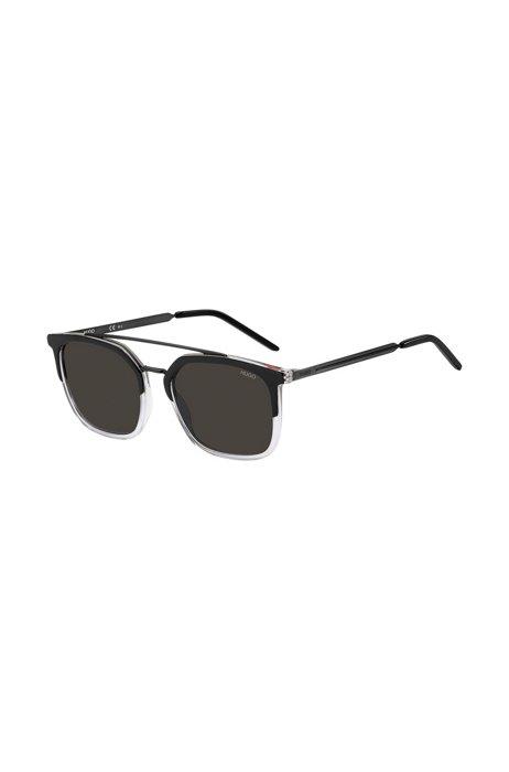 Gafas de sol de doble puente en metal y acetato, Assorted-Pre-Pack