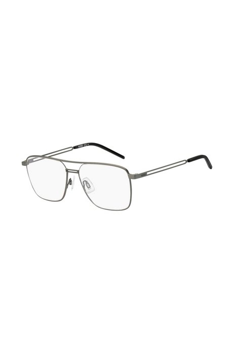Double-bridge optical frames with forked temples, Assorted-Pre-Pack