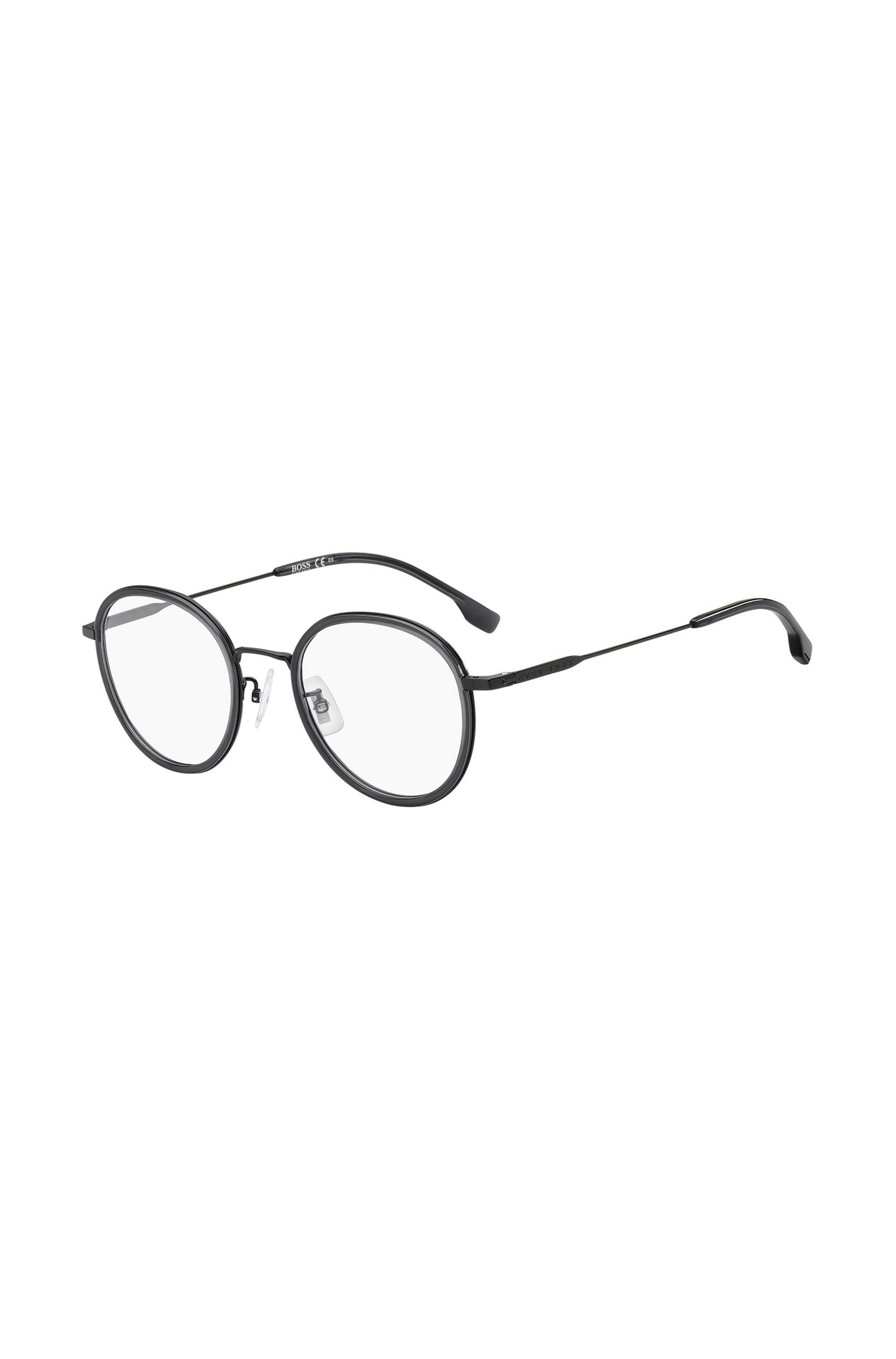 Round optical frames in matte grey-black, Assorted-Pre-Pack