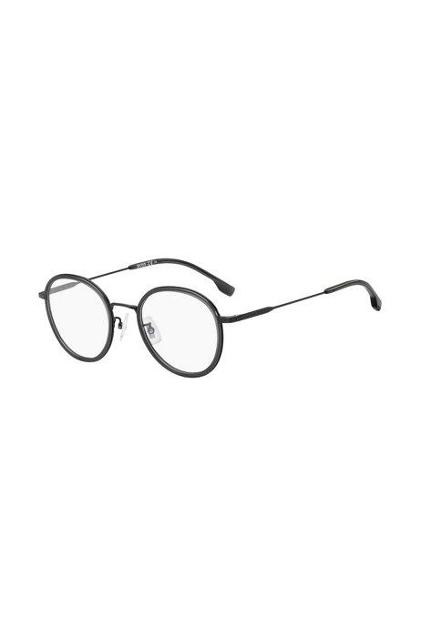 Montura redonda para gafas graduadas en negro grisáceo mate, Assorted-Pre-Pack